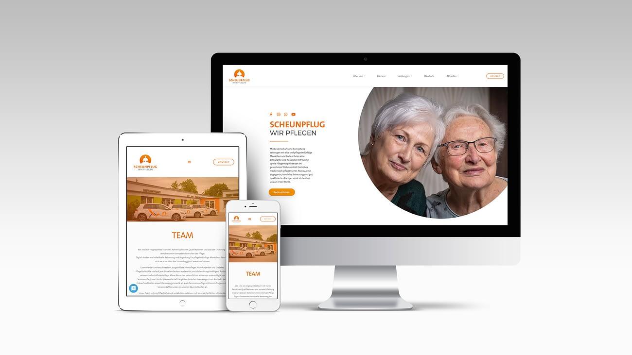 Scheunpflug Wir Pflegen Website Mockup